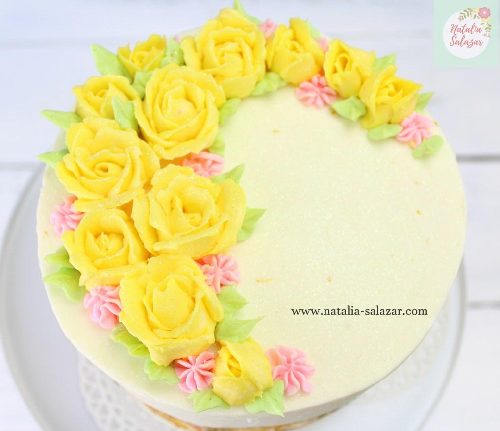 Rosas de buttercream natalia salazar