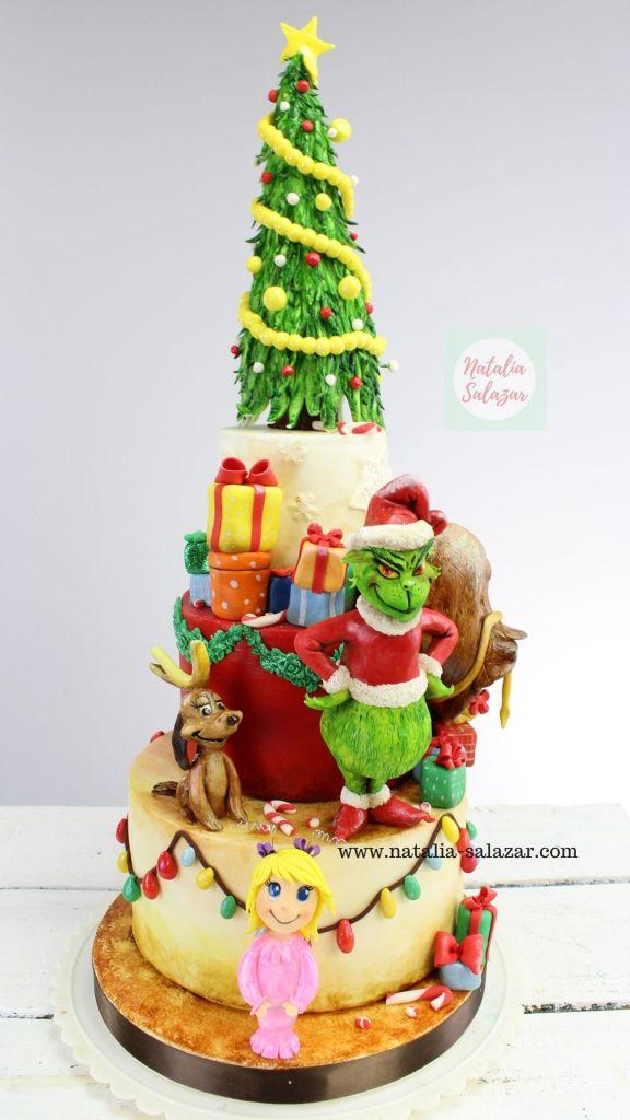 El Grinch cake tutorial natalia salazar