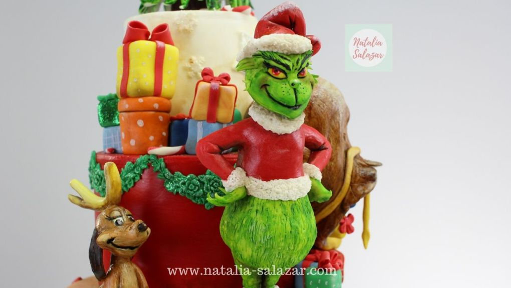 El Grinch cake topper