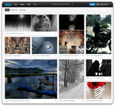 500px es una plataforma emergente que está acaparando la atención de los fotógrafos.
