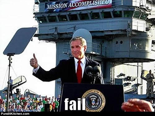 you know it's bad when you have to dust off the George W. Bush administration to illustrate your point as to the epic-ness of said fail