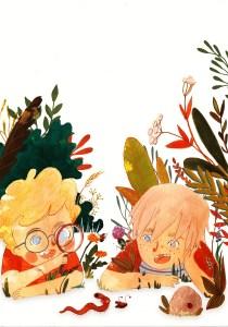 Felek i Żelek oglądają badyle i robaki