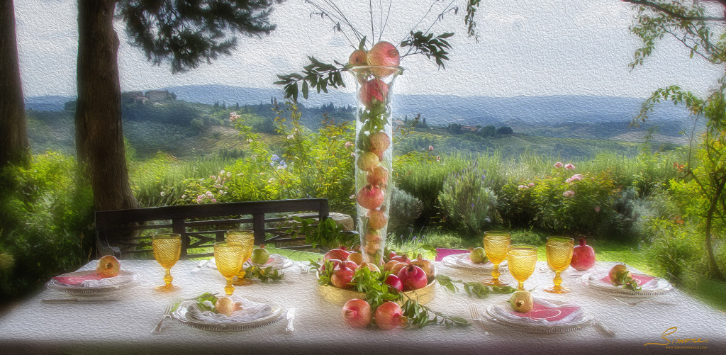 romantic pomegranate inspired wedding breakfast