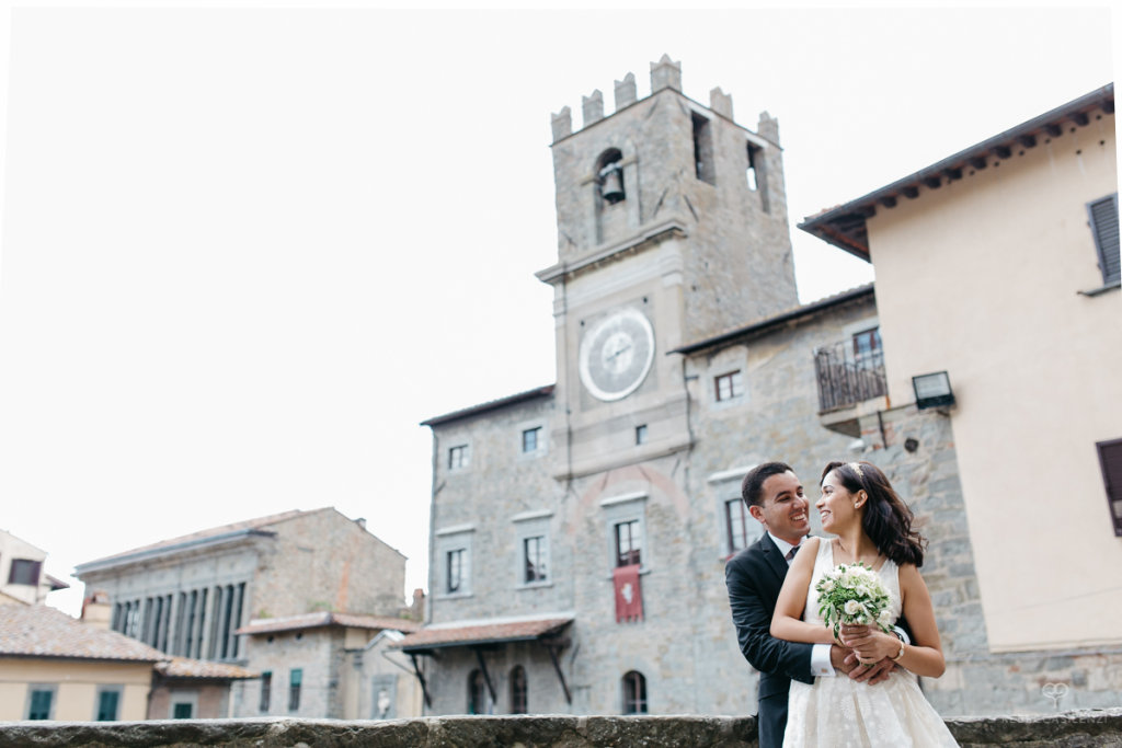 Cortona Tuscany elopement wedding