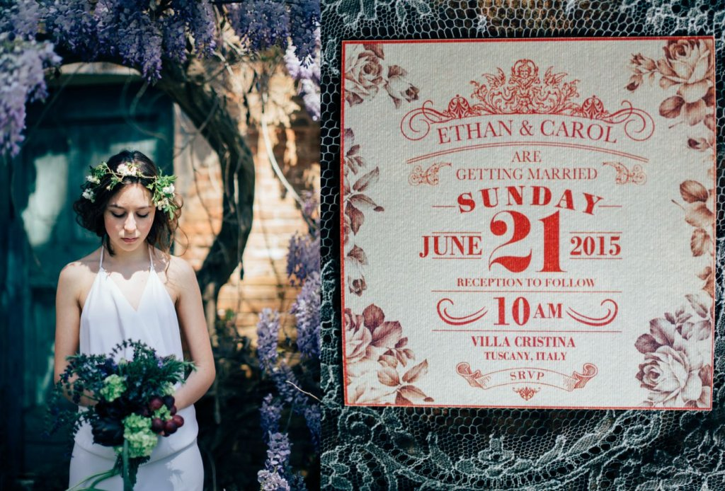 Italian garden wedding inspiration style shoot in Tuscany