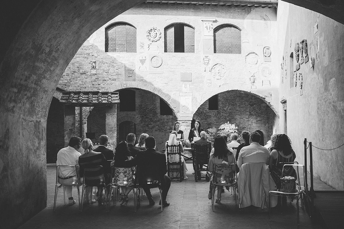 Pretorian Palace civil wedding ceremony,Tuscany
