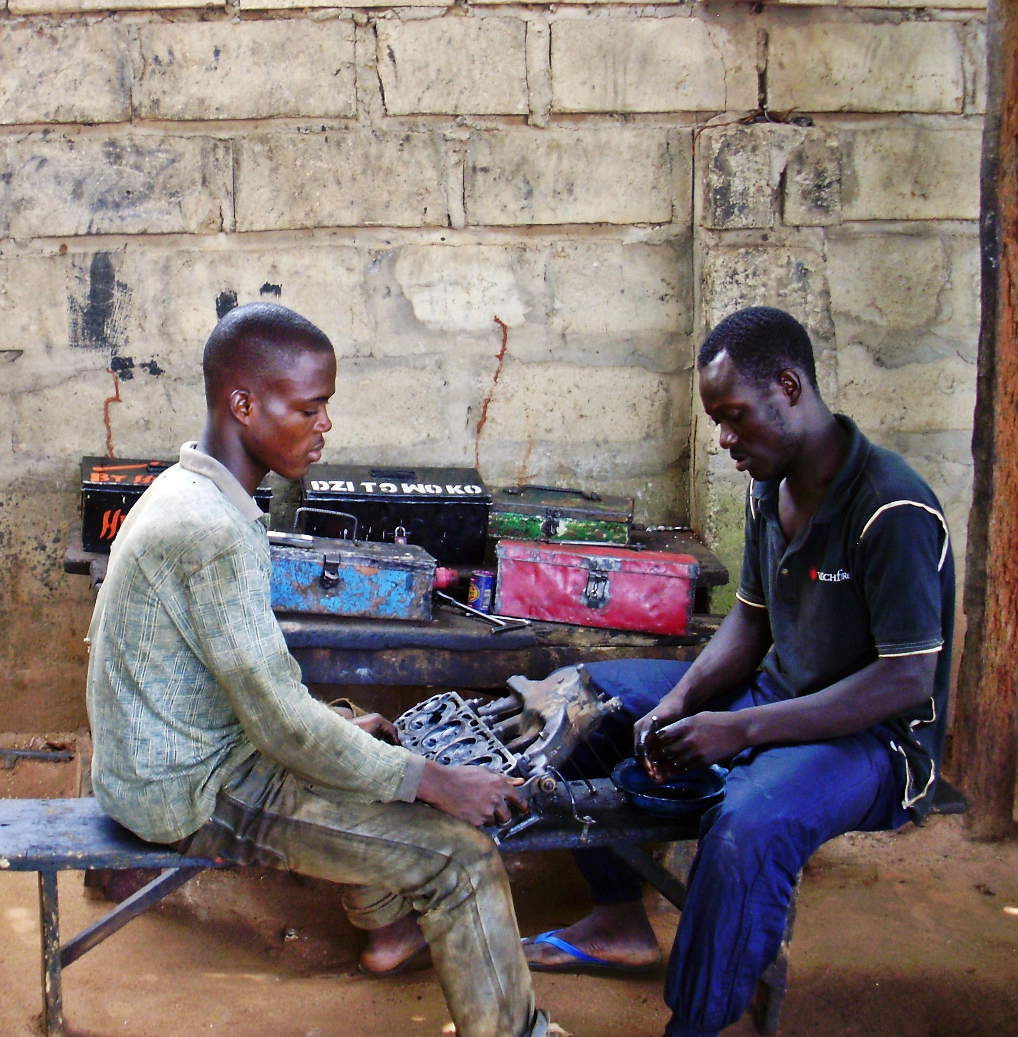 Trainees Attending The Mechanic Curse Organized by Alex's NGO in Ada Foah, Ghana,