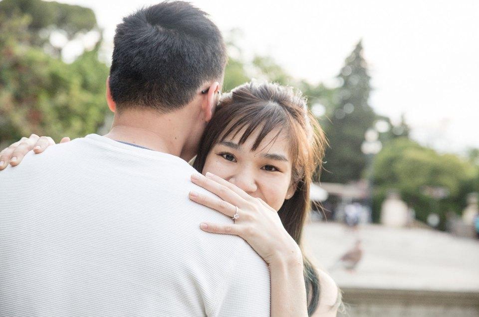 Surprise proposal in Plaza España