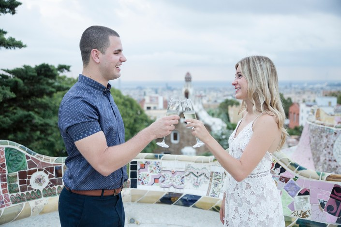 Surprise proposal in Barcelona