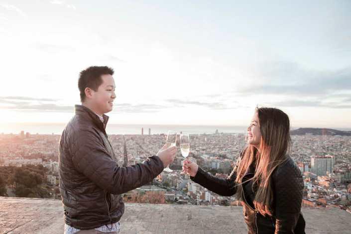 Barcelona proposal photographer Bunkers