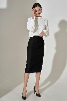 Классическая юбка-карандаш черного цвета купить в интернет ...