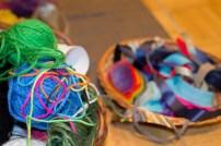 yarn and ribbon