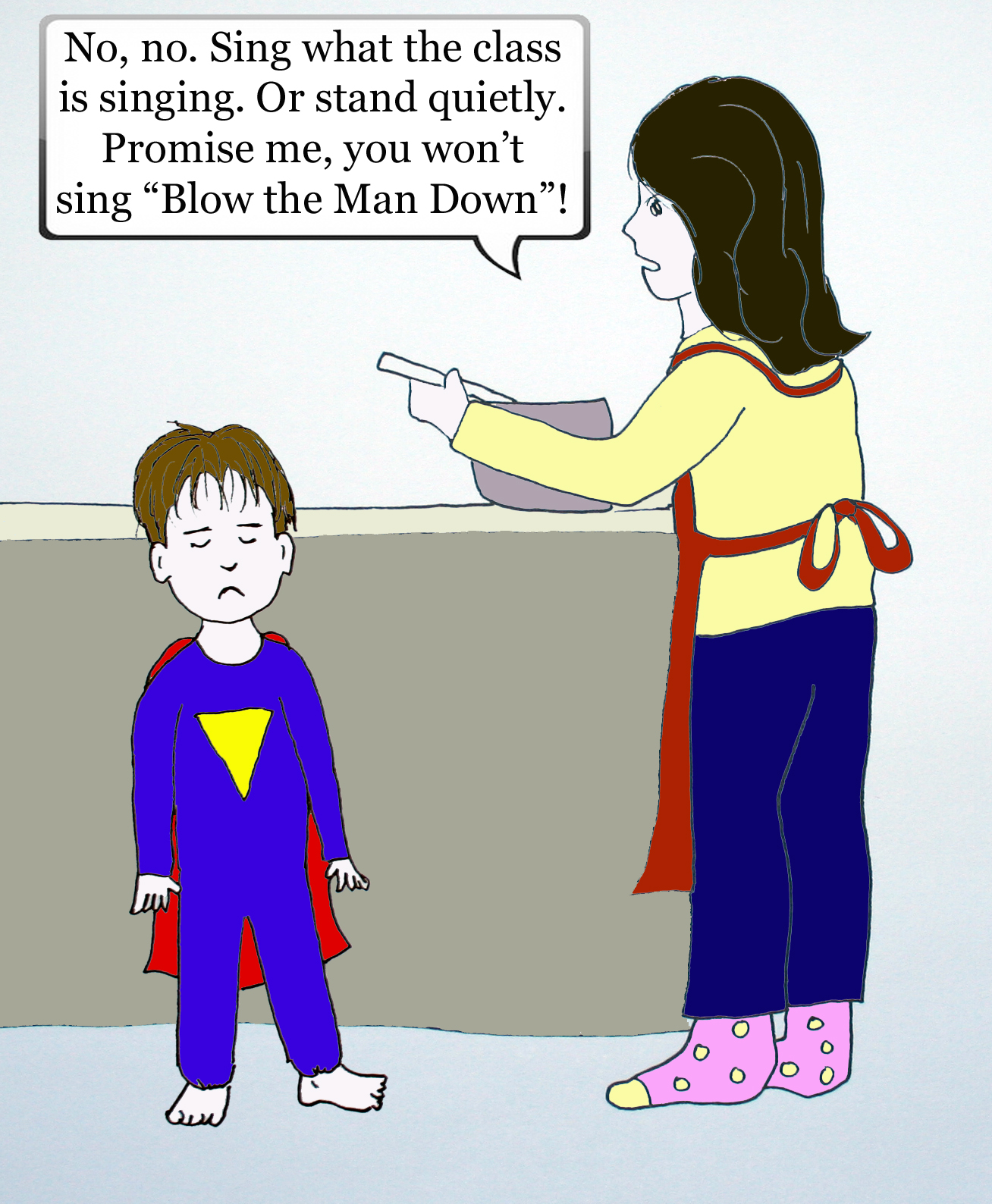 Dramatic Mom comic strip cell 5 by Natalie Buske Thomas