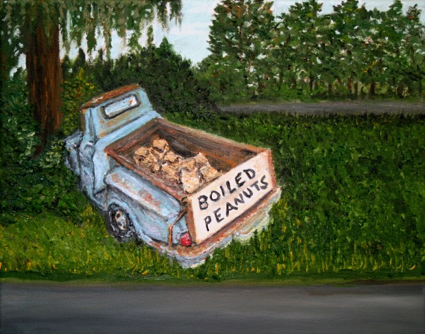 Oil Painting Boiled Peanuts for Sale by Natalie BuskeThomas