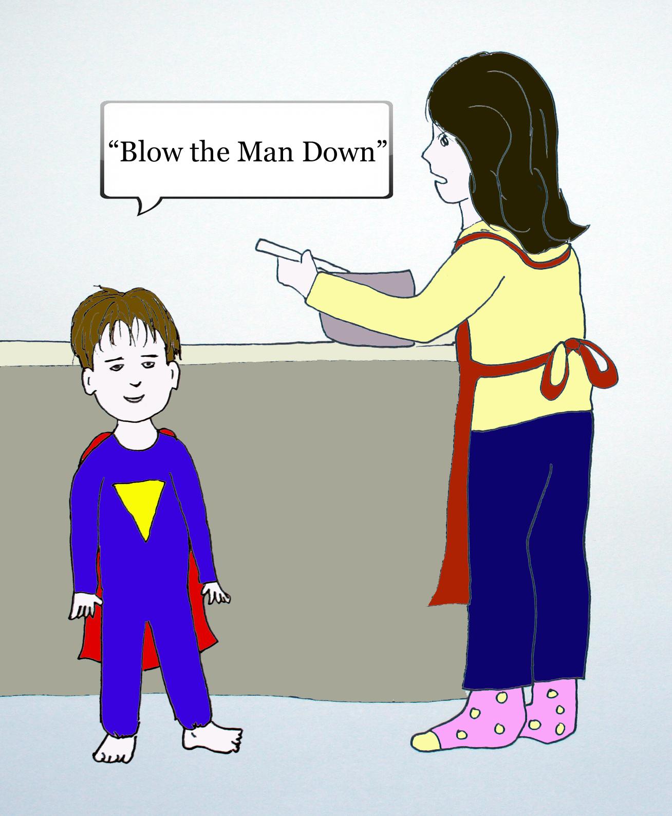 Dramatic Mom comic strip cell 4 by Natalie Buske Thomas
