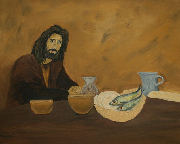 Jesus at the Table oil painting by Natalie Buske Thomas