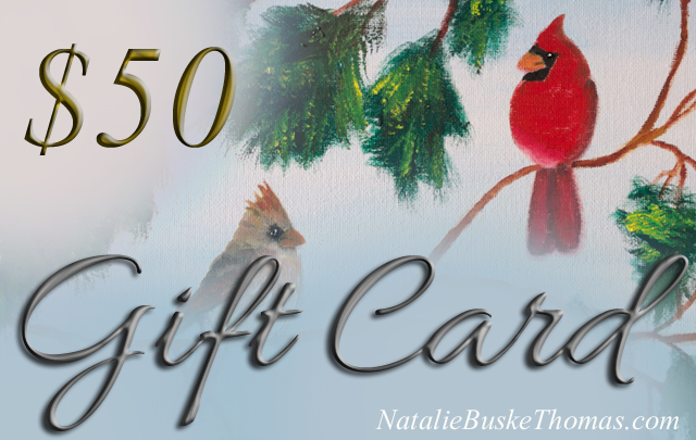 Gift Card 50 dollar cardinals design by Natalie Buske Thomas copy