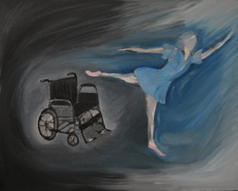 Miracle Dancer oil painting by Natalie BuskeThomas