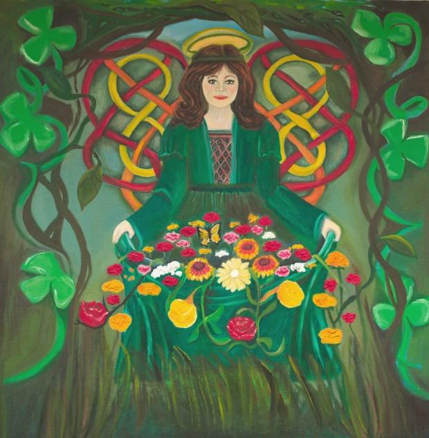 Oil painting Irish Angel by Natalie Buske Thomas