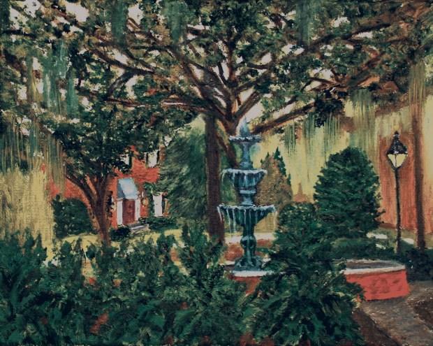 City of Savannah oil painting by artist Natalie Buske Thomas