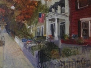 "Original Oil Paintings: ""2122 Hanover"" Oil on Canvas, 18"" x 24"""