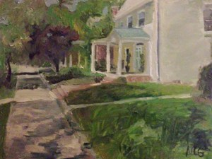 "Original Oil Painting-Scnenes of Richmond: ""House in the Fan,"" Oil on Canvas, 18"" x 24"""