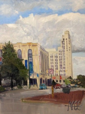 "Original Oil Painting-Scenes of Richmond: ""Miller and Rhoads"" Oil on Canvas, 24""x18"""