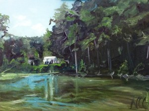 "Original Oil Painting:""River House in Lancaster, VA"" Oil on Canvas, 24"" x 18"""