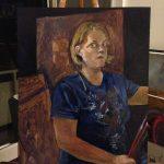 "Original Oil Painting: ""Self Portrait"" Oil on Panel, 20"" x 16"""