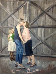 "Original Oil Painting-People and Portraits: ""Courtney and Sarah"" Oil on Canvas, 24"" x 18"""