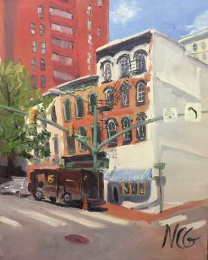 "Original Oil Painting by Natalie Colleen Gates: ""12th and Main, Richmond VA"""