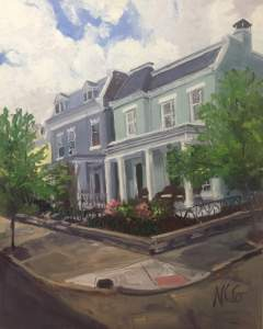 "Original Oil Painting by Natalie Colleen Gates: ""Stuart Ave House"""