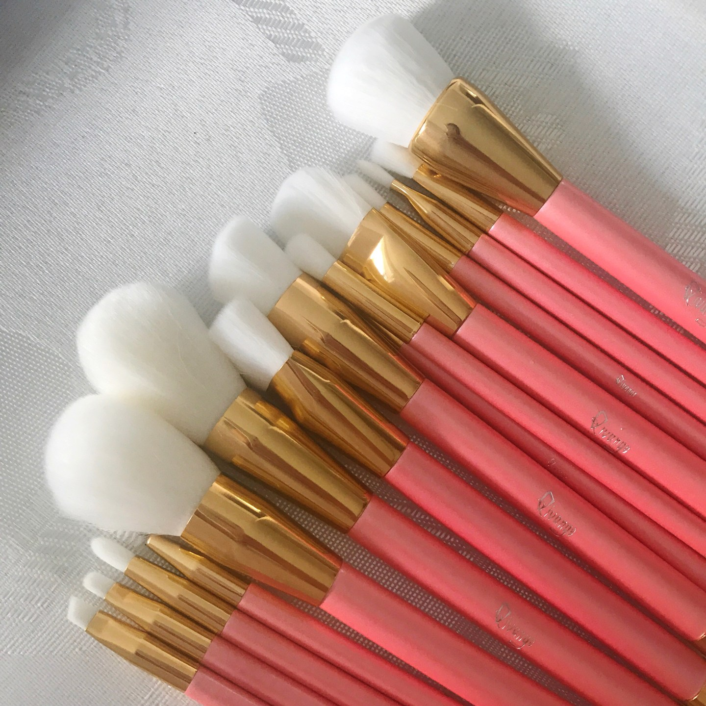 Bargain make-up brushes laid out