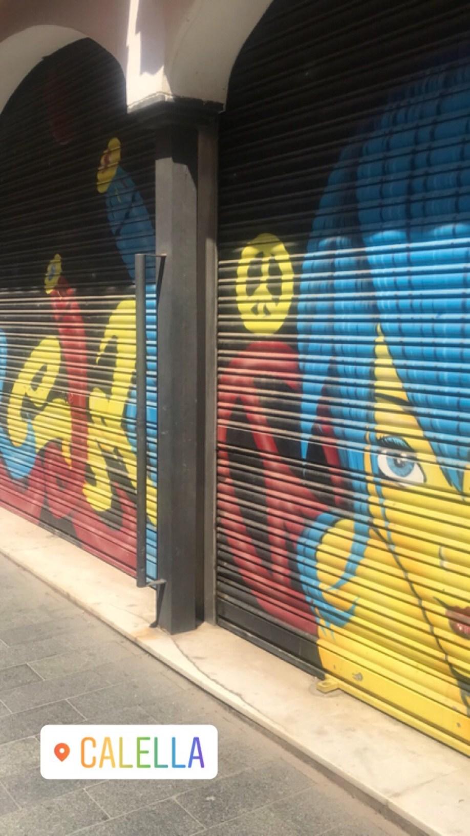 street art in Calella