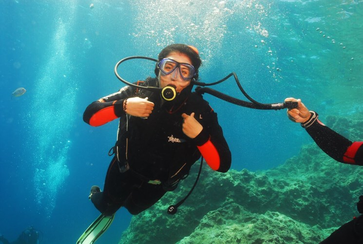 Scuba-Diving in Crete, Greece