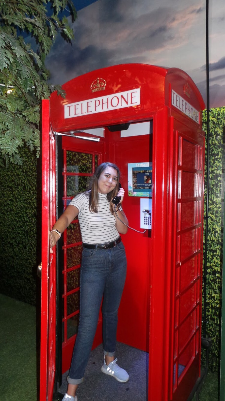 stood in a red phone box