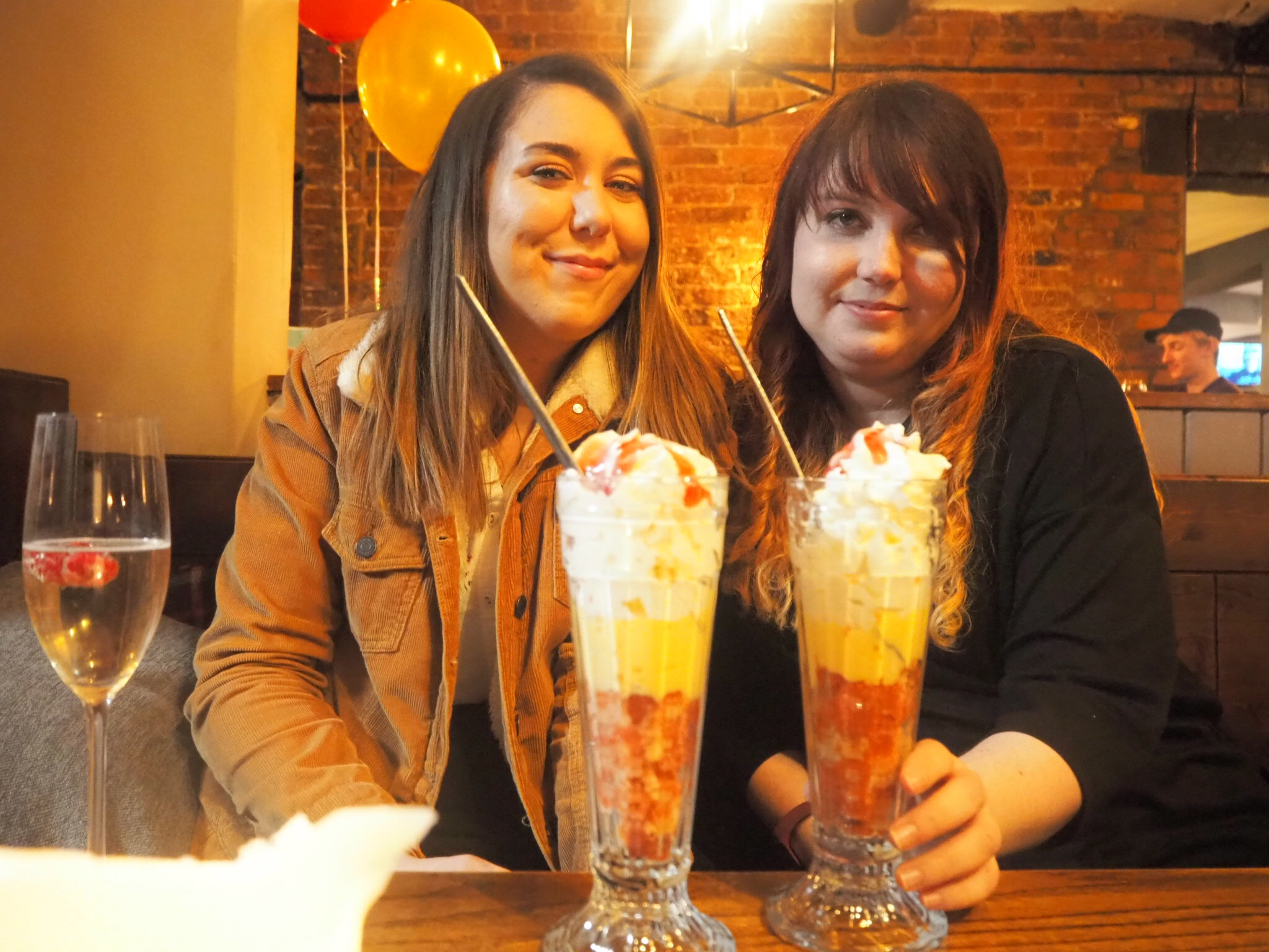 louise and I with our trifles