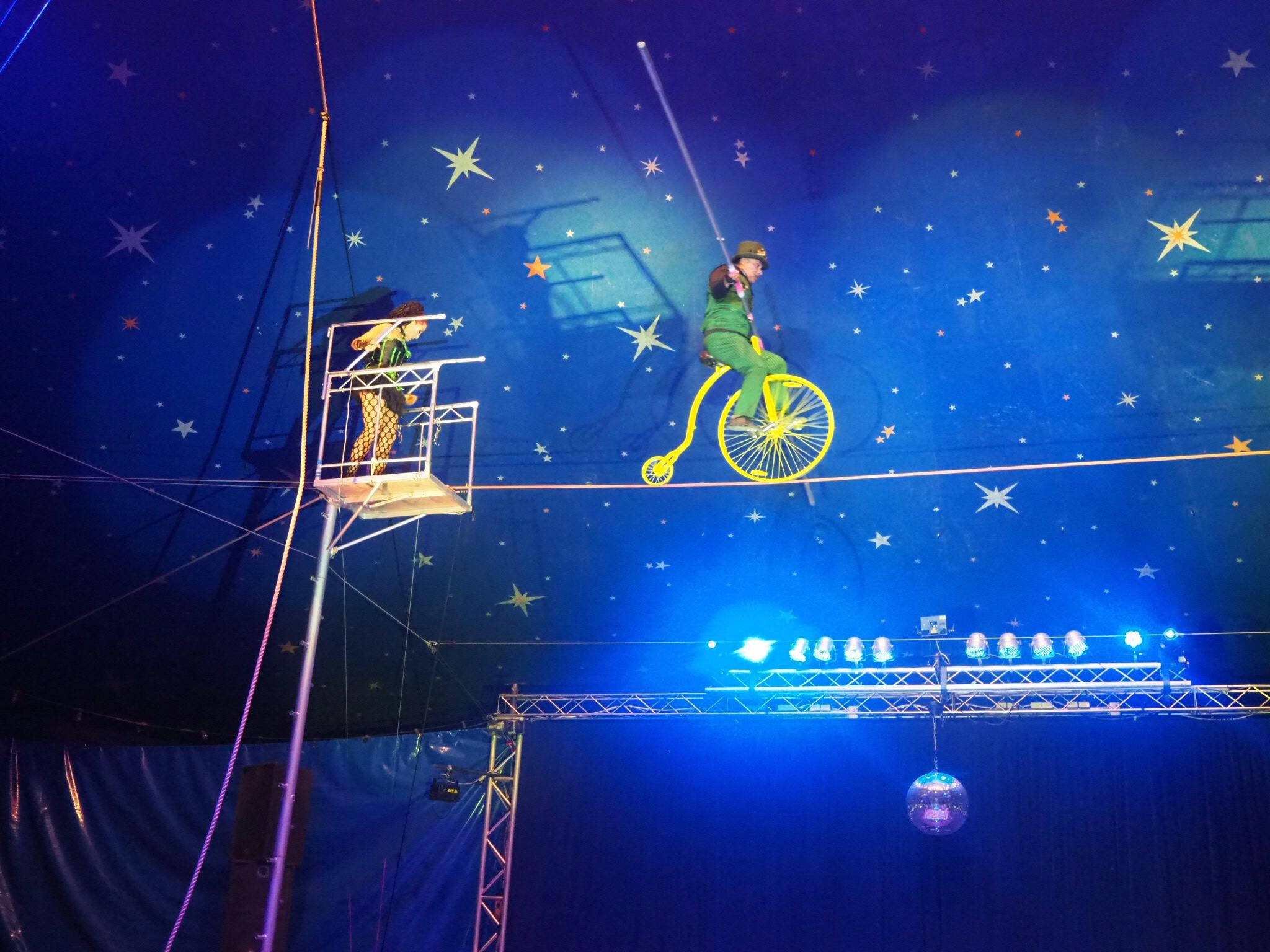 tight-rope act at the circus