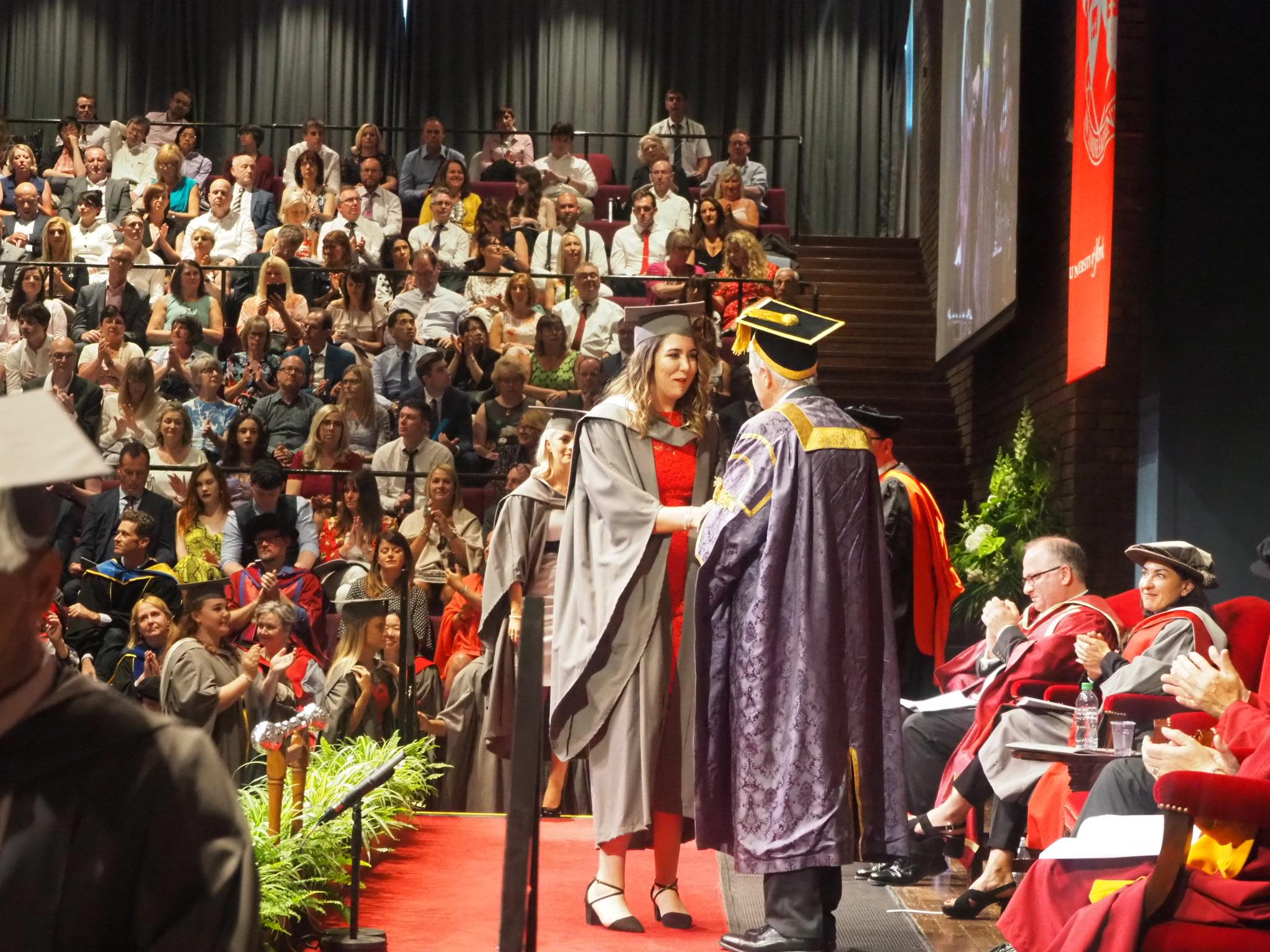 me graduating on stage