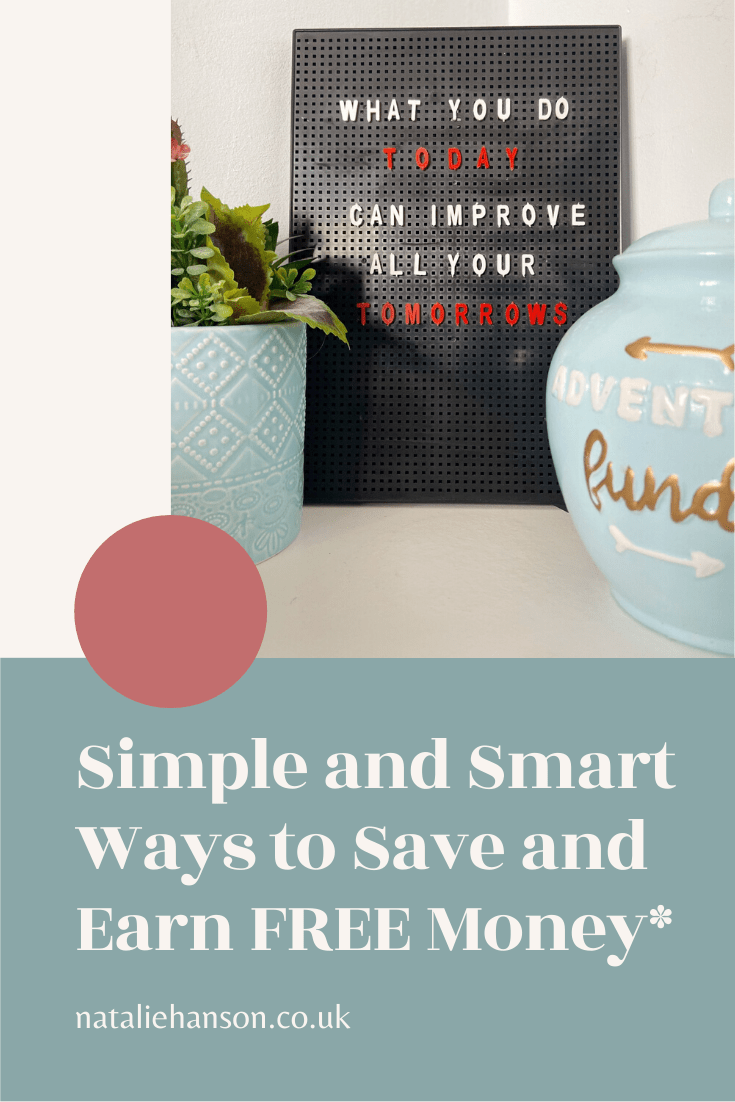 pinterest banner - simple ways to save and earn free money