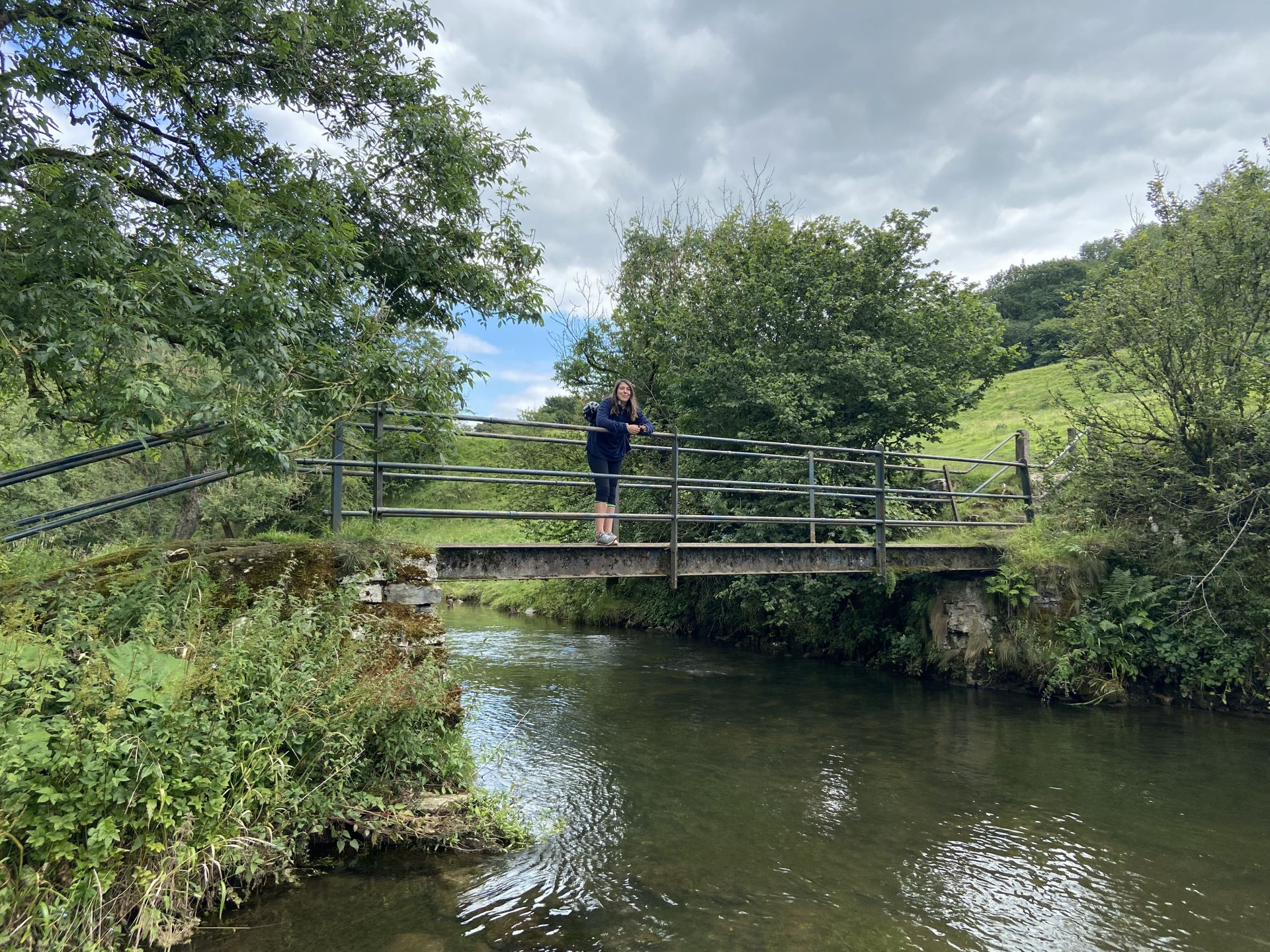 stood on the bridge on the monsal trail at chee dale
