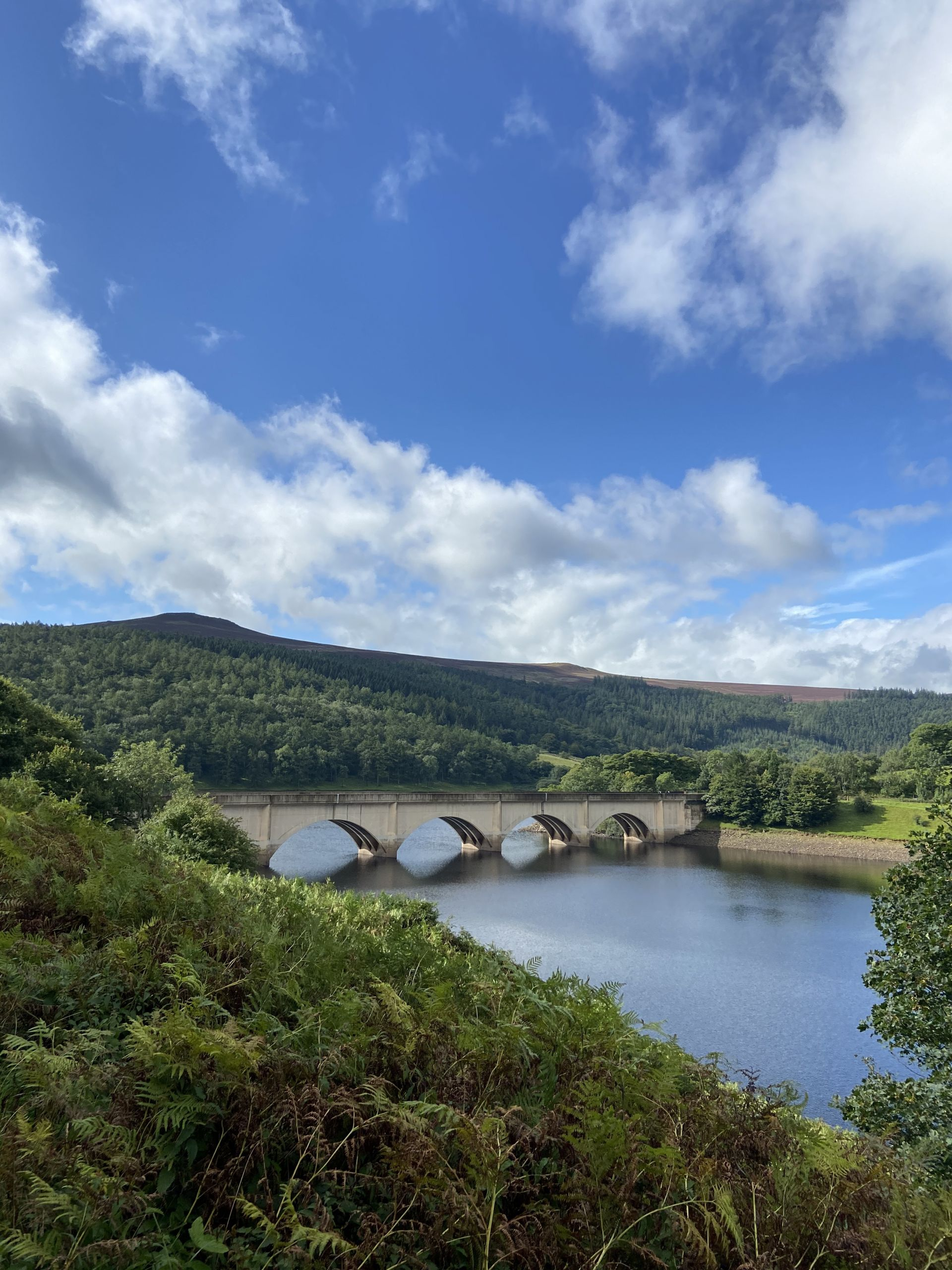 Ladybower reservoir in the Peak District
