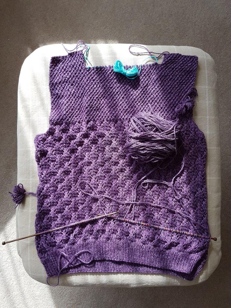 Falling leaves sweater in progress