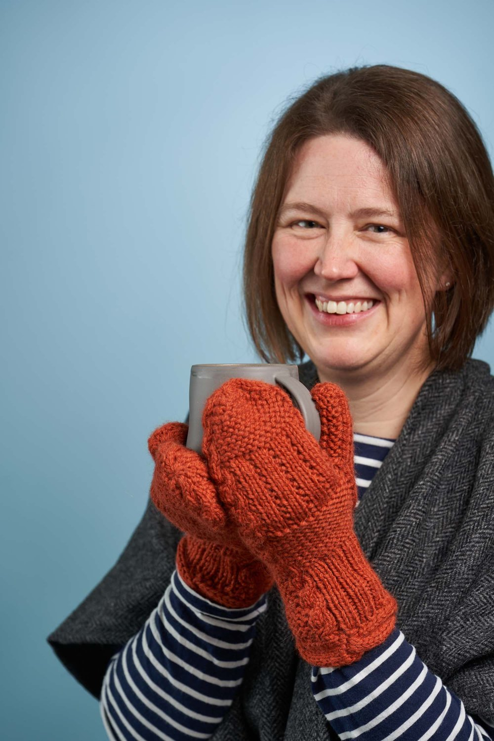 Fond mittens, the second pattern release in the Something to Knit Together Winter Edition, designed by Natalie Warner and published by Arnall-Culliford Knitwear