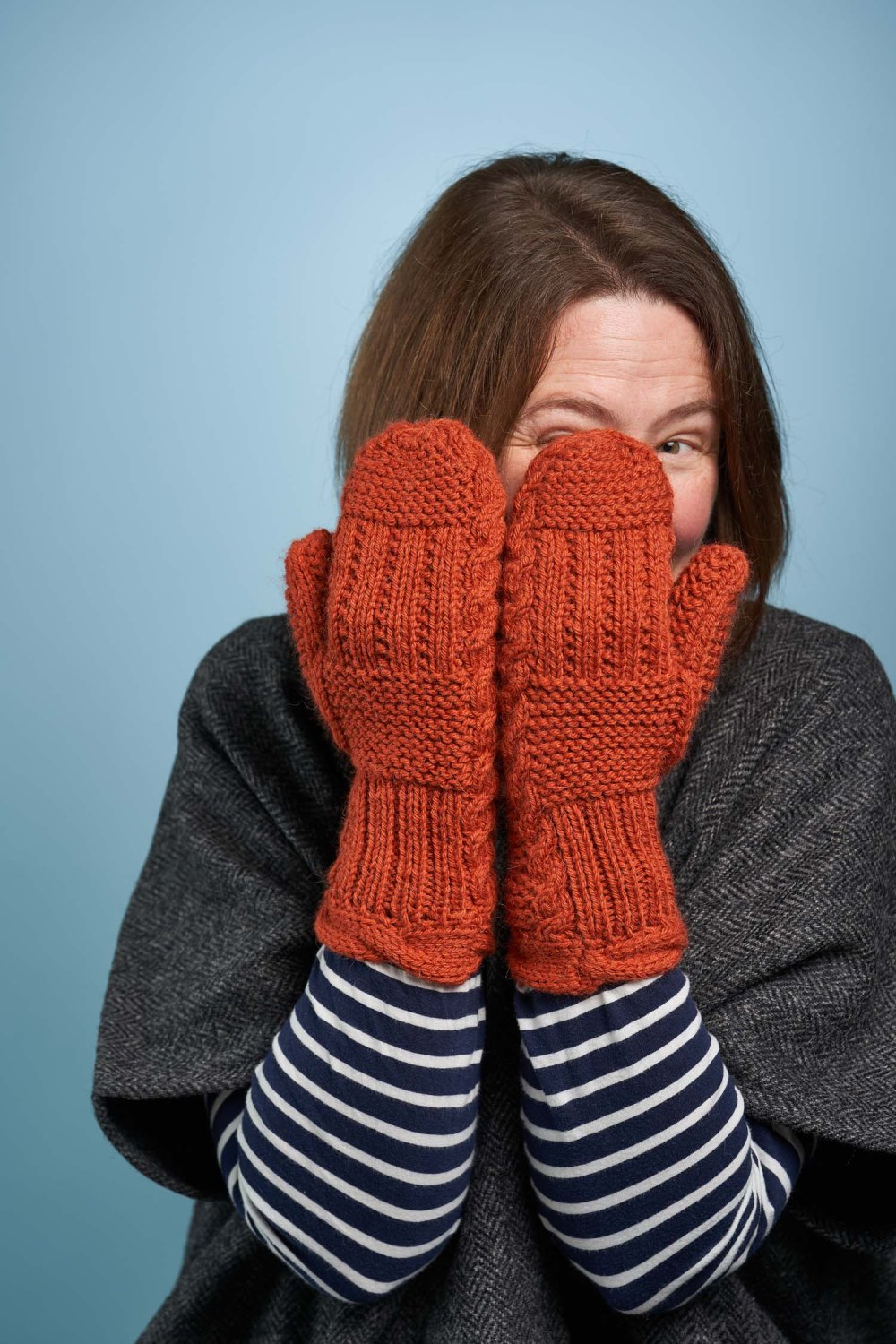 Fond mittens, designed by Natalie Warner and published by Arnall-Culliford Knitwear. Part of the Something to Knit Together Winter Edition, 2020