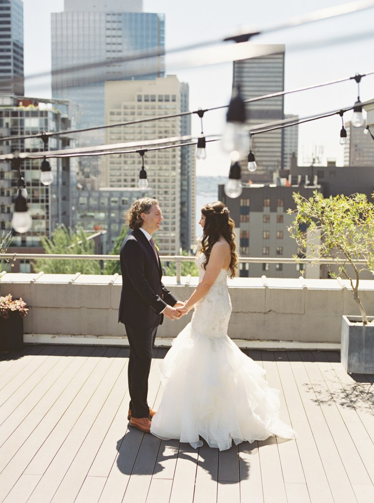 Sorrento Hotel Seattle rooftop wedding venue -- by Blue Rose Photography