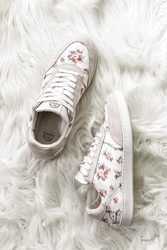 Loeffler Randall Keeley Sneakers Watercolor Floral