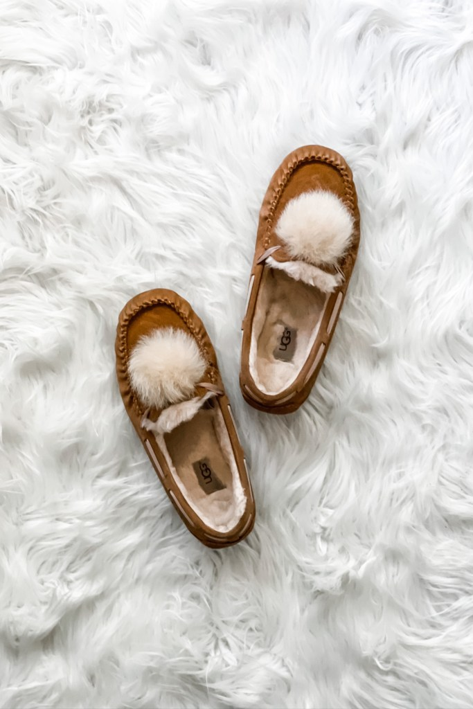 Best Shoes for Winter Weather -- UGG Dakota slippers