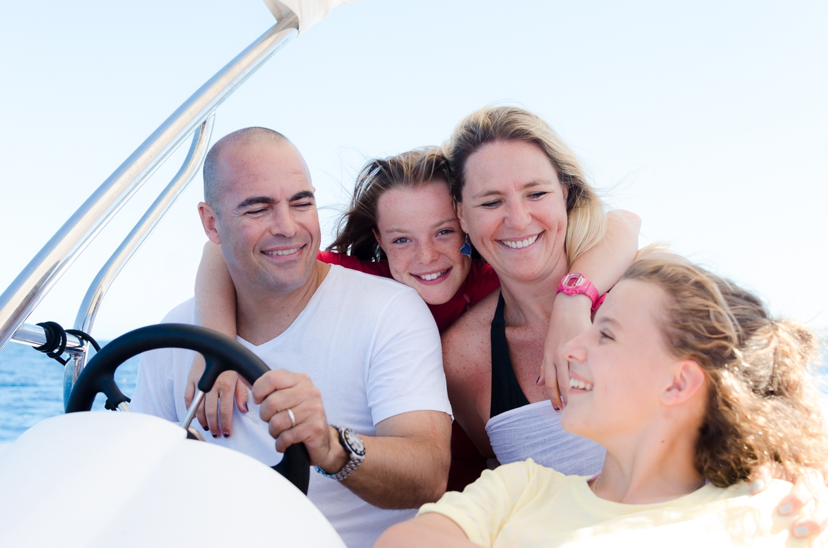 mauritian family boating photoshoot