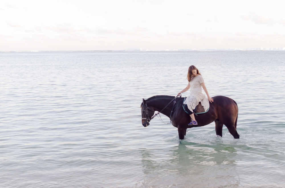 Honeymoon beach ride